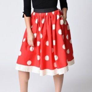 Unique Vintage Polka Dot Minnie Mouse Skirt